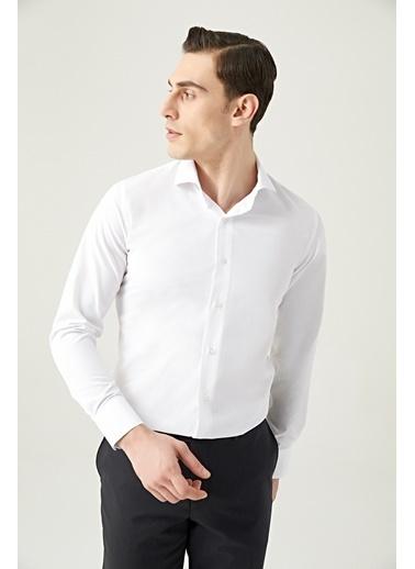 D'S Damat Slim Fit Standart 2'Li Gömlek Renkli